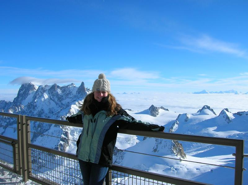 Michaela on top of the world in France
