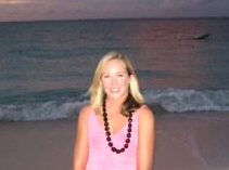 Enjoying the sunset on Turks & Caicos island, Oct 2005