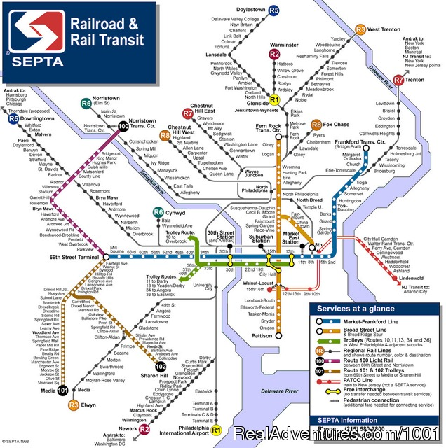Philadelphia Public Transportation Map Philadelphia