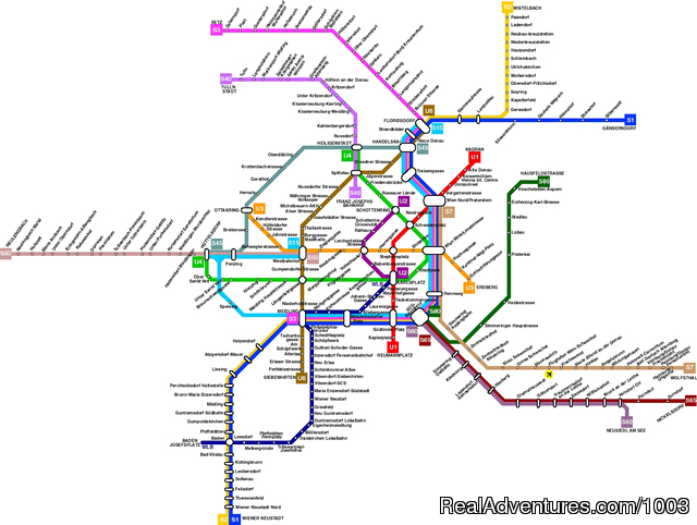 Vienna Public Transportation Map