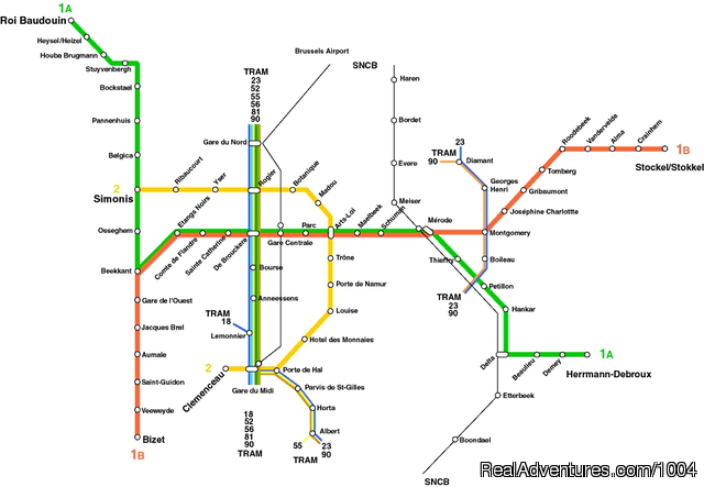 Brussels Public Transportation Map