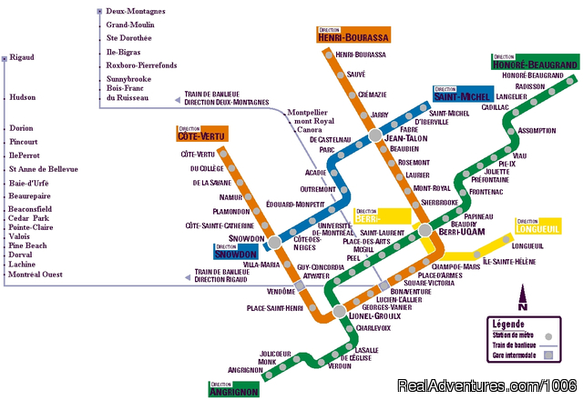 Montreal Public Transportation Map