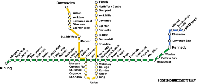 Toronto Public Transportation Map