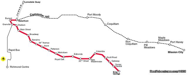 Vancouver Public Transportation Map