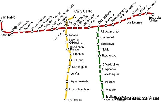 Santiago Public Transportation Map
