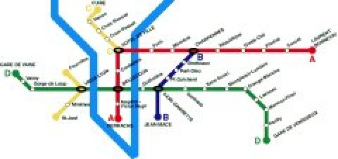 Lyon Public Transportation Map
