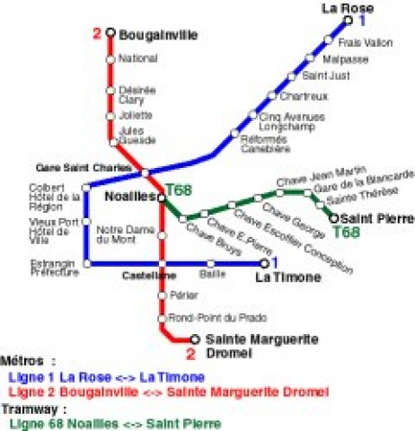 Marseille Public Transportation Map