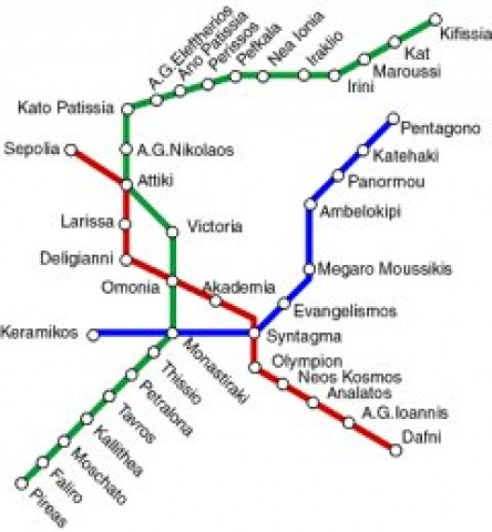 Athens Public Transportation Map