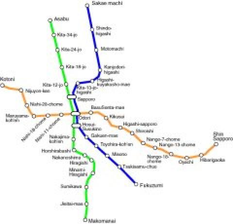 Sapporo Public Transportation Map