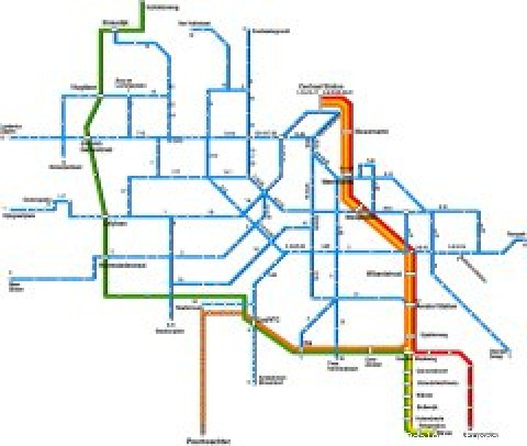 Amsterdam Public Transportation Map
