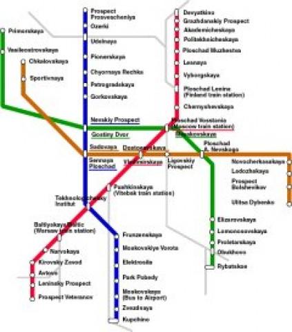 St. Petersburg Public Transportation Map