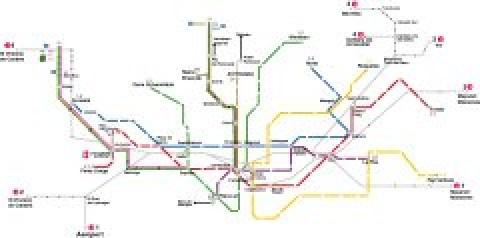 Barcelona Public Transportation Map
