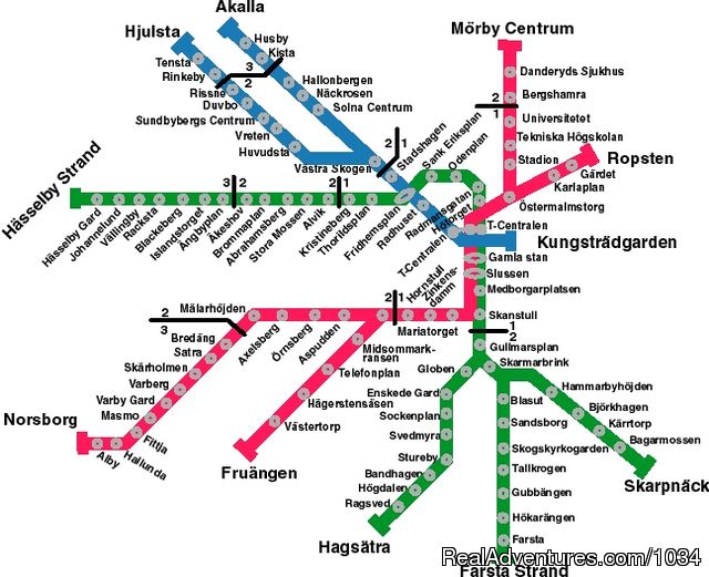 Image #1 of 1 - Stockholm Public Transportation Map