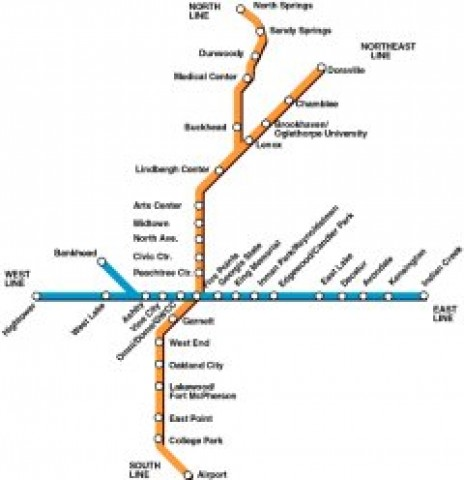 Atlanta Public Transportation Map