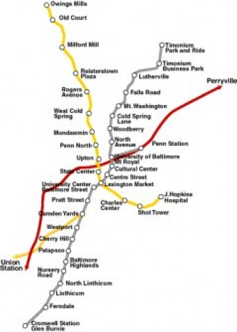 Baltimore Public Transportation Map