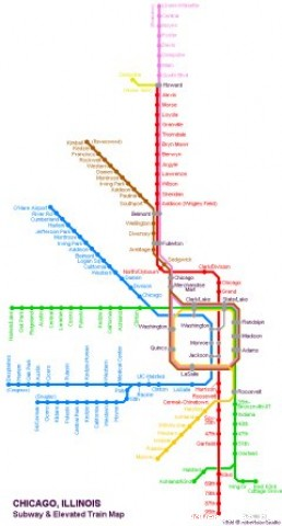 Chicago Public Transportation Map