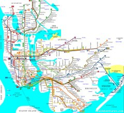 New York Public Transportation Map