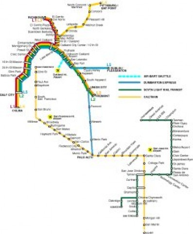 San Francisco Public Transportation Map