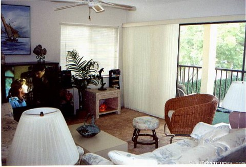 Living area & Lanai (#3 of 8) - Beechwood Cove - Sarasota/Siesta Key
