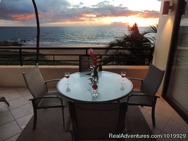 Unit 204 Lanai - Polo Beach 2-4 Bd beachfront-Wailea, Makena, Maui