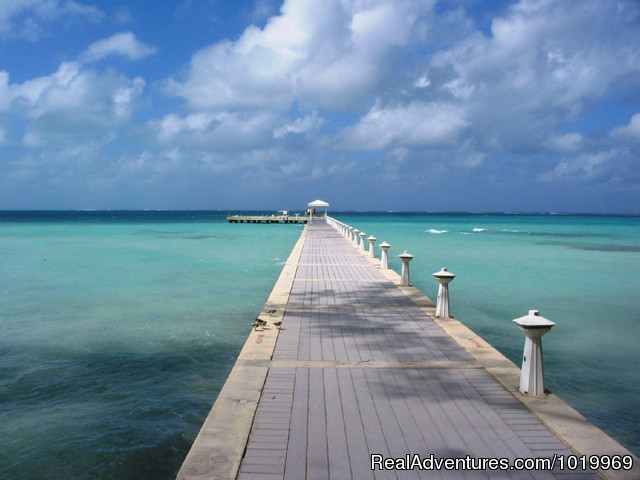 Rum Point Pier - Cayman Breeze Luxury Beachfront Condo at Rum Point