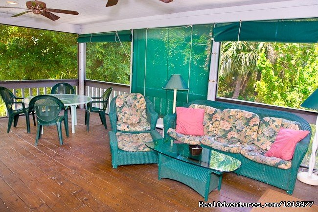 Large Wrap-Around Screened Porch | Image #8/17 | Deluxe Private Home at Sunset Captiva, Captiva Isl