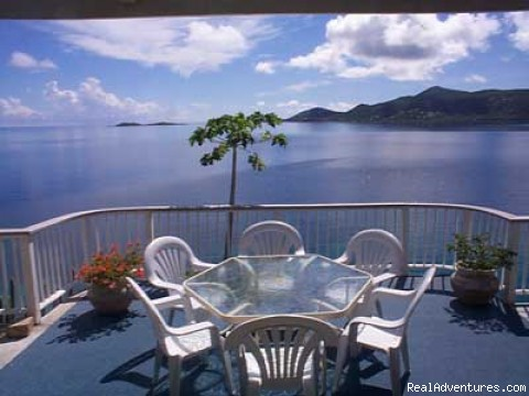 The Dining Deck - Romantic waterfront villa, private snorkeling beac