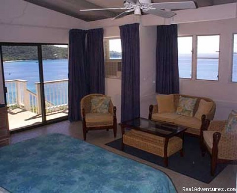 In the Master King Bedroom - Romantic waterfront villa, private snorkeling beac