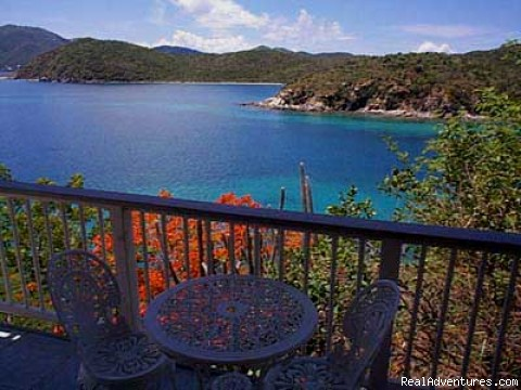 View from the 2nd bedroom private deck - Romantic waterfront villa, private snorkeling beac