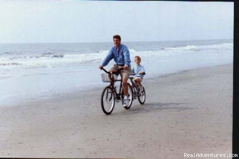 Biking on Beach - Hilton Head Island