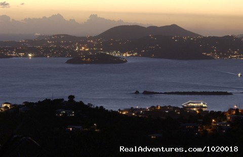 St. Thomas at Night - Cloud Nine, Panoramic Views of Oceans and Islands