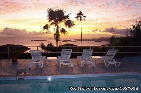 Peaceful Sunset - Cloud Nine, Panoramic Views of Oceans and Islands
