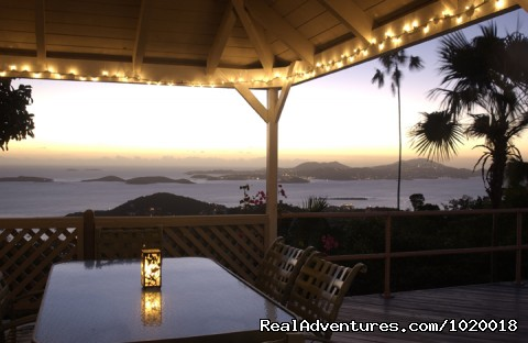 View form the Gazebo - Cloud Nine, Panoramic Views of Oceans and Islands