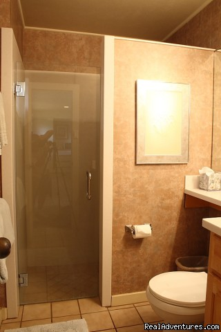 two bathroom each with shower