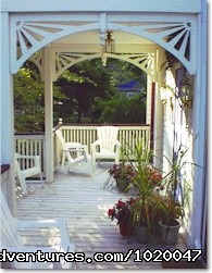 The verandah (#2 of 7) - Harbor Country - Union Pier Summer House
