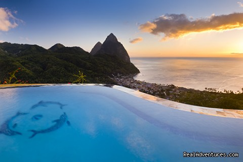 Sunset at the Infinity Pool - La Haut Resort