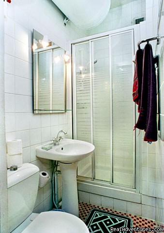Eiffel studio bathroom with shower, basin, WC (#8 of 9) - Paris Studio Apartment Close to Eiffel Tower