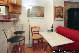 Marble topped Table (#6 of 9) - Paris Studio Apartment Close to Eiffel Tower