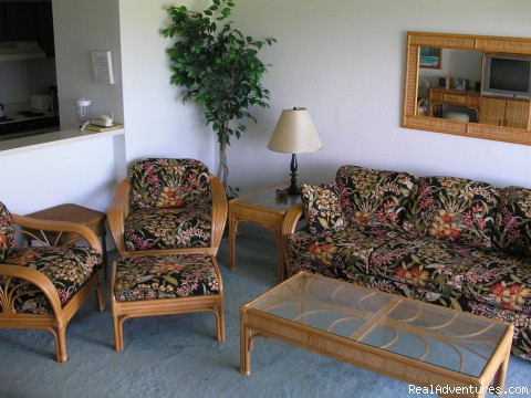 Living Room - Kapaa Shore Resort