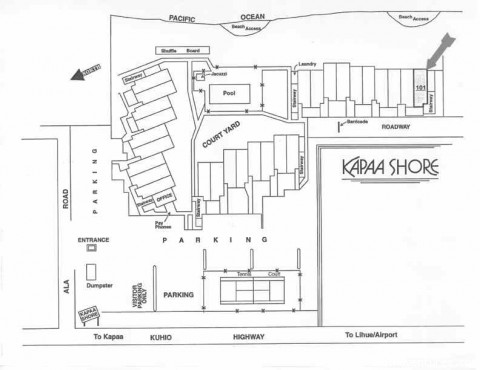 Resort layout - Kapaa Shore Resort