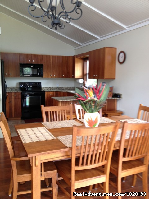 Dining room and kitchen - Beach House w/Pool, Sleeps 8, Newly Remodeled