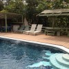 Ample pool seating
