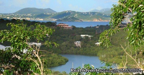 Views from Deck of St. Thomas | Image #19/19 | Charming 2 Bed/2 Bath Villa with Hot Tub and Views