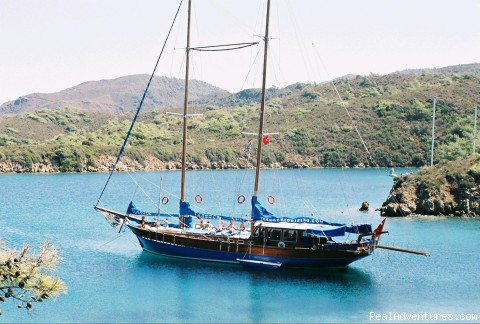 Anchored in Quiet Cove - Turkey Sailing Blue Voyages & Blue Cruises