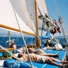 Relaxing under sails