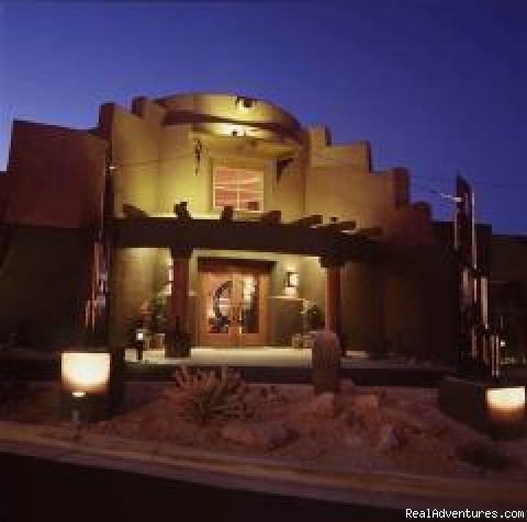 Front of our lobby at night - Southwest Inn at Eagle Mountain (Scottsdale)