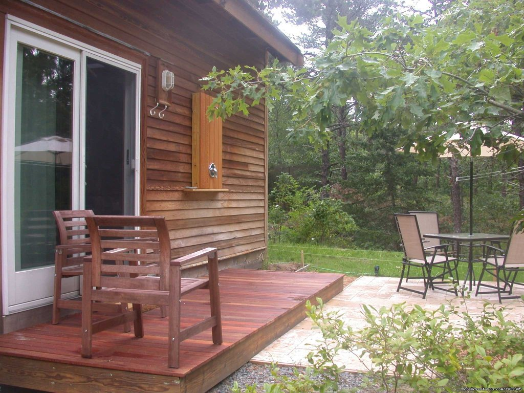 Guest House deck and outdoor shower | Image #13/13 | The Laurel, a 2BR and or 1BR Guest House