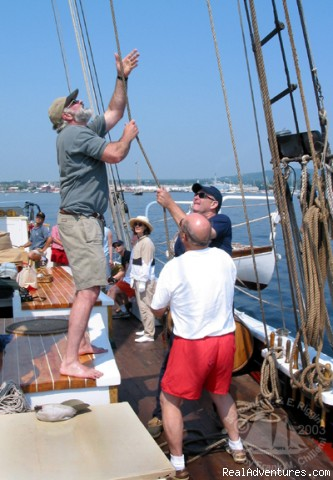 Join in and help sail the boat - Sailing aboard a Maine Windjammer