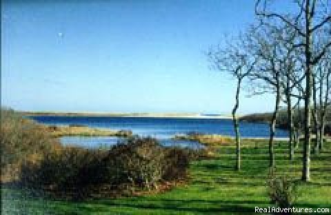 View across Pond to Barrier Beach - Prime Ocean View Great Pond Front Home