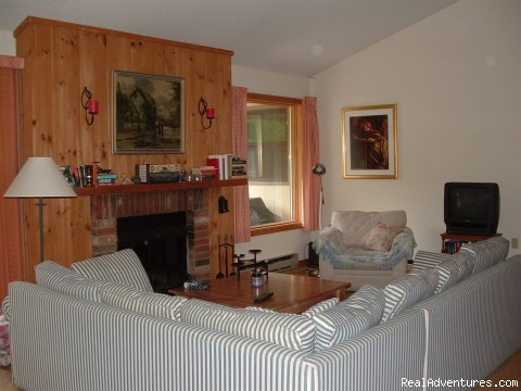 Living room (#8 of 9) - Riverfront Condo at Loon Mt., Lincoln NH